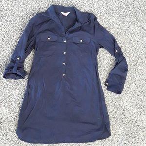 Lilly Pulitzer Navy/Gold linen T-shirt Dress